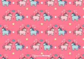 Unicorns Vector Pattern