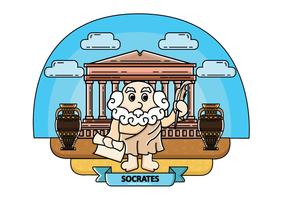 Vecteur gratuit de Socrate