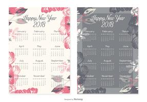 New Year 2018 Calendar Cards