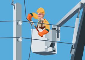 Vecteur de Lineman électrique