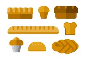 Simple Breads Vector Icons