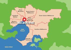 Melbourne Kaart