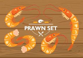 Prawn Set Vector