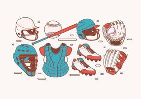 Softball Equipment Vector