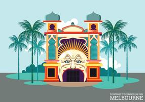 Vecteur de Melbourne Luna Park Gate