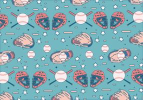Softball Glove Pattern Vector