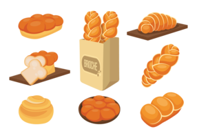 Brioche Icons Vector