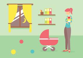 Babysitter Vector Illustration