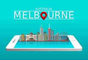 Melbourne City Gratis Vector