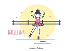 Prima Ballerina Vector Illustration