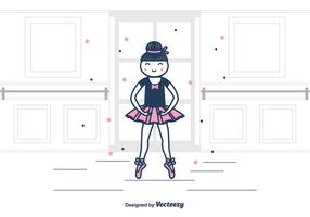 Ballerina Vector Background