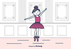 Ballerina In Studio Vector Illustration