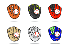 Cool Softball Glove Vector