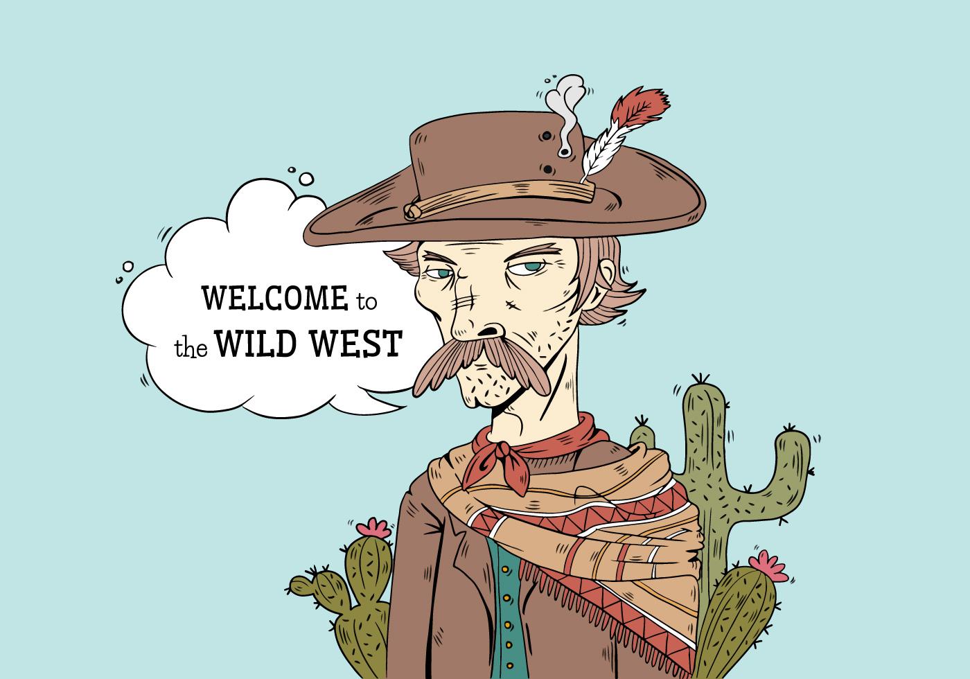 Vettore Duso Del Cappello Del Cowboy Serio Di Selvaggi West
