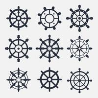 Schip Wheel Icon Vectors