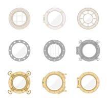 Porthole Icons Vector