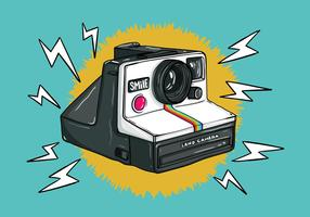 Retro Polaroid Camera Vector