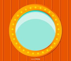 Ship Window Vector Illustration