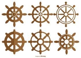 Coleção de rodas de navios de vetores