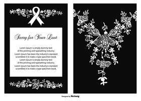 Cartão floral de vetores de condolências