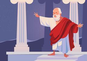 Vetor filósofo Sócrates