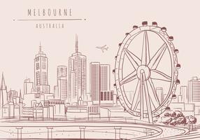 Melbourne City Vector Hintergrund