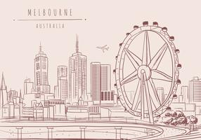Melbourne City Vector Achtergrond
