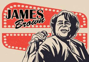 James Brown Vector Background