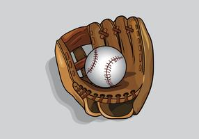 softball handschoen vector
