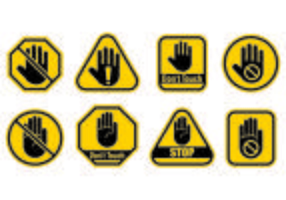 Set Of Do Not Touch Icon