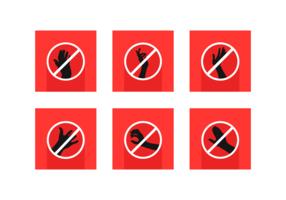 Rör inte på gratis vektorpaket