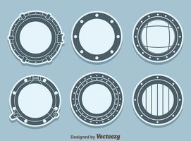 Ship Porthole Vector