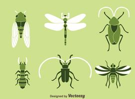 Vector de iconos de insectos