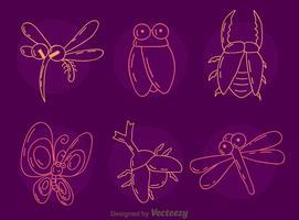 dibujo vector de colección de insectos