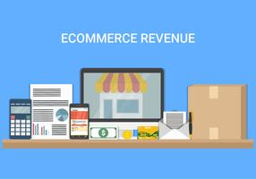 Revenue With Business Element Vector Illustration
