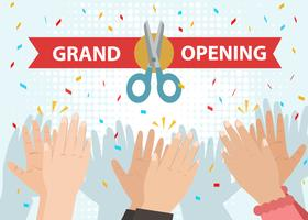 Hand Clapping for Grand Opening Vector