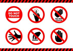 Flat Do not Touch Sticker vetor