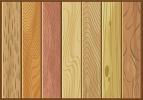 Verschiedene Arten von Holz Textur Free Vector