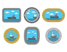 porthole vector set