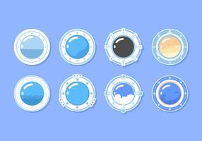 Cirkel Porthole Gratis Vector