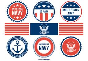 diverse navy badges samling