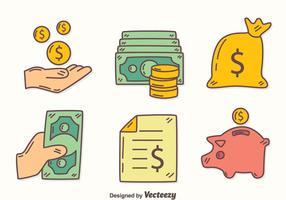 Handdragen inkomstelementvektor