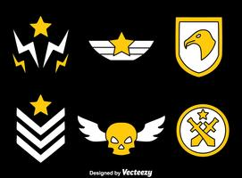 Military Badge On Black Vector
