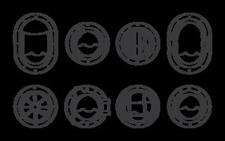 Porthole Ikoner Vector