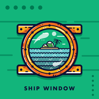 Free Ship Window Vector