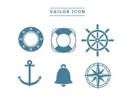 sailor icon free vector