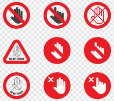 Prohibition Sign Do Not Touch vector