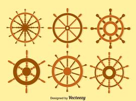 Wood Ship Wheel Vector