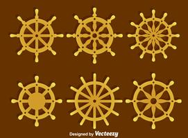 Ships Wheel Collection Vector