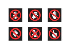 Ne touchez pas le pack de vecteur gratuit